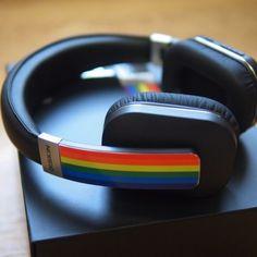 Gay Pride Rainbow Wireless Over-Ear Headphones