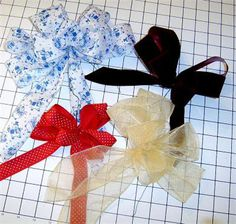 How to Tie a Multi Loop, Floral Type Decorative Bow: Materials to Make a Bow with Many Loops