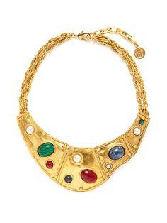 Ben-Amun Multicolor Glass Bead & Faux Pearl Flexible Necklace