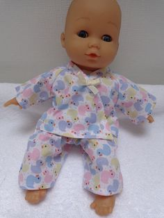 Dolls Clothes  Pyjamas to fit 30cm (12inch) baby dolls ELC Cupcake  £5.25
