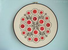 amazing embroidery idea!  I have a button collection perfect for this!