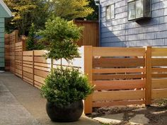 horizontal fence short with variety of widths