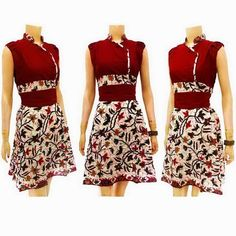 Dress Batik Modern Solo KODE : DB 3636
