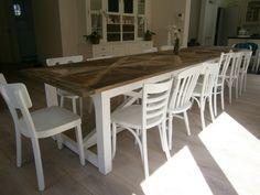 Keukenstoelen Hout: Antieke stoelen in hout stoffen zitting ...