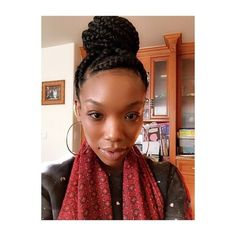 Loving This Braided Bun on Brandy - http://community.blackhairinformation.com/hairstyle-gallery/braids-twists/loving-this-braided-bun-on-brandy/