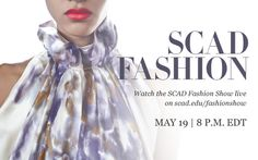 Watch the SCAD Fashion Show live on May 19  http://www.scad.edu/fashionshow/