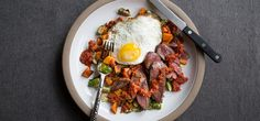 I'm cooking Steak & Eggs with Green Chef https://greenchef.com/recipes/paleo-steak-and-eggs-with-spicy-tomato-sauce