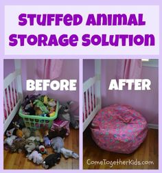 Stuffed Animal Storage Idea, awesome idea for us adults that still have stuffies hanging around