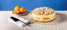 Ετοιμάζετε την Κρέμα Ζαχαροπλαστικής Μιλφέιγ χρησιμοποιώντας την κρέμα γάλακτος και τον χυμό πορτοκαλιού αντί για γάλα. Προσθέτετε το γιαούρτι και ανακατεύετε. Greek Recipes, Tiramisu, Cheesecake, Ethnic Recipes, Desserts, Food, Tailgate Desserts, Deserts, Cheesecakes
