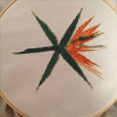 """Decided to be creative and cross-stitch the EXO logo from """"The War"""". Embroidery Art, Cross Stitch Embroidery, Embroidery Patterns, Cross Stitch Patterns, Hama Beads Patterns, Beading Patterns, Stitch Patch, Logo Sketches, 3d Craft"""