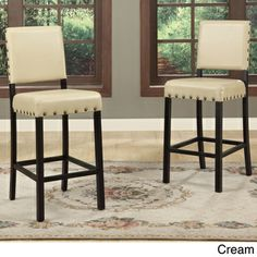 Baxton Studio Noah Modern Faux Leather Counter Stools (Set of 2)   Overstock.com Shopping - Great Deals on Baxton Studio Bar Stools