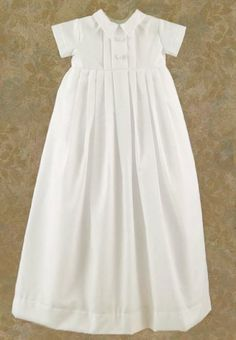 Christening Gown// add bow tie for a boy or add a pink bow around the middle for a girl.