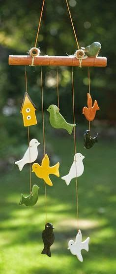 Birds Windchime - Tearcraft could i make this from saltdough like Christmas oranments?Ceramic Birds Windchime - Tearcraft could i make this from saltdough like Christmas oranments? Ceramic Birds, Ceramic Clay, Ceramic Pottery, Clay Birds, Metal Birds, Salt Dough Crafts, Salt Dough Ornaments, Salt Dough Projects, Ceramics Projects