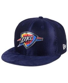 New Era Oklahoma City Thunder On-Court Collection Draft 59FIFTY Fitted Cap - Blue 7 5/8