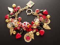 The red fruits,Vintage charm bracelet by stella zhou | Flickr - Photo Sharing!