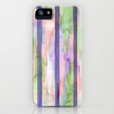 Watercolor Stripes iPhone & iPod Case by Rosie Brown - $35.00 #iphone #ipod #case #art #stripes #watercolor #society6