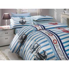 Cotton belinen marine style, HOBBY BERMUDA BLUE, more on darymex.com