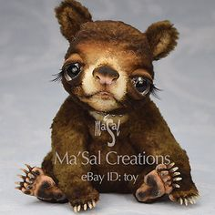 Ma'Sal original Special Dolly Bear Cub with a Hat-Bed / Direct from the Artist #AllOccasion