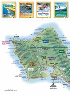 Oahu drive guide...links for helicopter tours, joy cruises, polynesian cultural center...