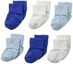 Jefferies Socks Unisex-Baby Newborn Turn Cuff Bootie 6 Pair Pack, Blue/White/Royal, Newborn: This 6 pair pack is a classic turn cuff bootie that every baby needs Baby Shower Bouquet, Baby Sock Bouquet, Baby Shower Deco, Shower Bebe, Baby Shower Balloons, Baby Shower Gifts, Baby Gifts, Diaper Bouquet, Newborn Gifts