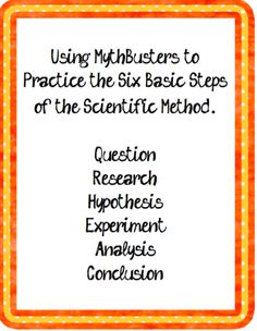 Worksheets Mythbusters Scientific Method Worksheet the science life teaching scientific method using mythbusters to teach method