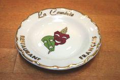 La Comedie Francais Ashtray Broadway Restaurant New York City Vtg 1960s Limoges #LaComedieRestaurantFrancais
