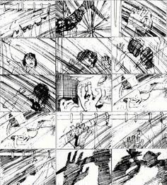 Saul Bass original storyboard for Hitchcock's PSYCHO Shower Scene