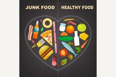 Healthy Food Infographics by Double Brain on @creativemarket