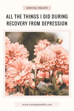 Everything I did to help myself recover from depression and look after my mental health - self help, self care, therapy Managing Depression, Recovering From Depression, Living With Depression, Depression Recovery, Overcoming Depression, Mental Health Resources, Good Mental Health, Mental Health Quotes, Anxiety Tips