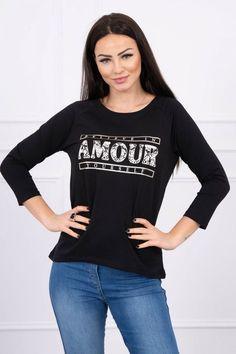 Bluza dama negru - 72 Lei -    Compozitie:  90% bumbac ,  10% elastane -   Comanda acum!  #divashopromania #divashop #hainefemei #bluze  #fashion #fashionista #fashionable #fashionaddict #styleoftheday #styleblogger #stylish #style #instafashion #lifestyle #loveit #summer #americanstyle #ootd #ootdmagazine #outfit #trendy #trends #womensfashion #streetstyle #streetwear #streetfashion #shopping #outfitoftheday #outfitinspiration #ootdshare #trendalert #boutique #haine #rom Blouse Styles, Fashion Addict, Outfit Of The Day, Street Wear, Street Style, Stylish, Womens Fashion, Model, Outfits