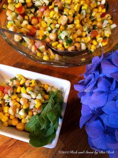 Chick Pea Salad with Garlic Vinaigrette