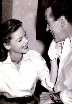 Humphrey Bogart and Lauren Bacall.