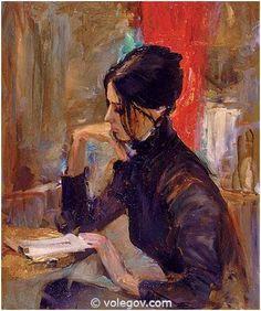 Gallery of artist Vladimir Volegov, portraits of very beautiful women. Girl Reading Book, Reading Art, Woman Reading, Art Paintings For Sale, Oil Painting For Sale, Vladimir Volegov, Book People, Reading People, Ecole Art