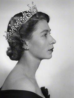 Queen Elizabeth II wearing The Girls of Great Britain and Northern Ireland Tiara.