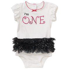 "Baby Girl 1st Birthday ""I'm One"" Sparkle Tutu Bodysuit! New with Tags Sz 12-18mo #KoalaBaby #DressyEverydayHolidayFirstBirthday"