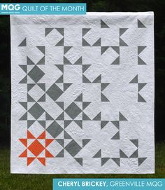 State of Being Modern Quilt by Cheryl Brickey, a modern take on an Ohio Star