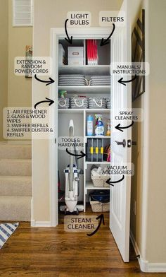 Linen Closet Storage Ideas Small Spaces 20 Ideas For 2019 Home Organization, Home Projects, Interior, Room Organization, Home, Coat Closet Organization, Storage Closet Organization, Home Organisation, New Homes