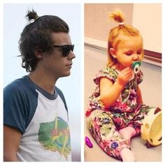My question is who wore it 1st? Too cute that harry has his hair like Lux's:)