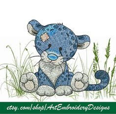 """Cheetah - Machine Embroidery Designs Set for a Babies and Children of a series """"Old Toy""""   Art Embroidery Designs"""