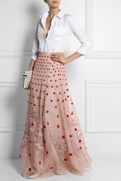 TEMPERLEY LONDON Josette embellished polka-dot silk-organza maxi skirt £1,610.00 http://www.net-a-porter.com/products/501161