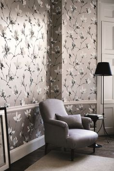 Best Color For Living Room Wallpaper Mirror Wall 165 Grey Wallpapers Images In 2019 Designer Gray Saphira By Romo Is A Stunning Floral Design Kitchen