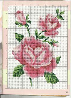 Gallery.ru / Фото #145 - мини - Valentina-A Cross Stitch Rose, Cross Stitch Flowers, Cross Stitch Embroidery, Cross Stitch Patterns, Crochet Patterns, Everything Cross Stitch, Newspaper Crafts, Bargello, Vintage Knitting