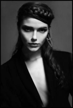 Viktorya | Positive Magazine | Overcoat by Stefano Lo Muzio FW13.  Stylist: Giulia Meterangelis Photographer: Massimo Pisati Hair&Make-Up: Carolina Albertini Model: Viktorya ICEMODELS MILAN