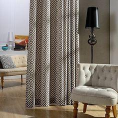 Cortinas Dobles con Estampado Geométrico, bonitas de panel doble para colgar en la ventana o balcón del salón, comedor, sala de estar, ...
