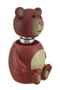 Cinnamon the Teddy Bear Buddy Liquid Hand Soap Pump/Lotion Dispenser - Zeckos