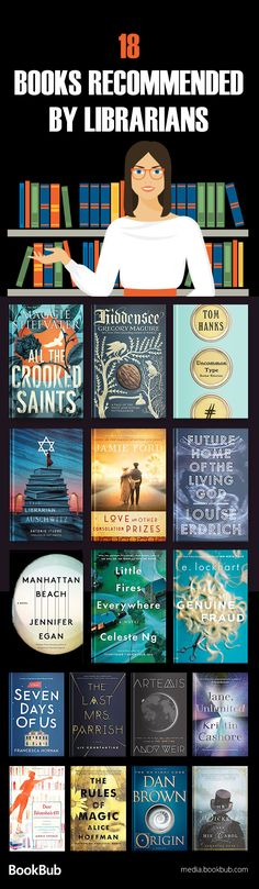 Check out this great book list recommended by librarians, including great fiction books, thriller books, history books, popular book club books, and more.