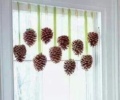 Pinecone window cute!