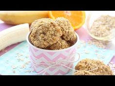 Make these delicious and healthy snacks for kids with just three simple ingredients; banana, orange juice and rolled oats! They make a really great snack for toddlers and weaning babies with a couple of teeth too! Healthy Afternoon Snacks, Healthy Toddler Snacks, Healthy Work Snacks, Toddler Meals, Healthy Foods To Eat, Kids Meals, Toddler Food, Healthy Treats, Baby Meals