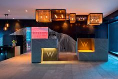 W Hotel - Joinery with integrated signage and lighting