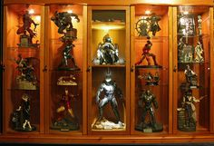 Sideshow Display 5 by Jase (9), via Flickr Comic Book Rooms, Comic Room, Action Figure Display Case, Toy Display, Display Cases, Geek Room, Goth Home Decor, Toy Rooms, Diy Curtains
